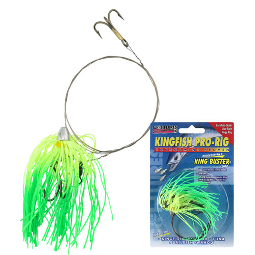 C&H Kingfish Pro-Rig (Chartreuse/Green Firetail Skirt)