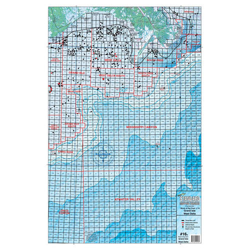 Standard Mapping West Delta Block and Rig Chart (#LA16)