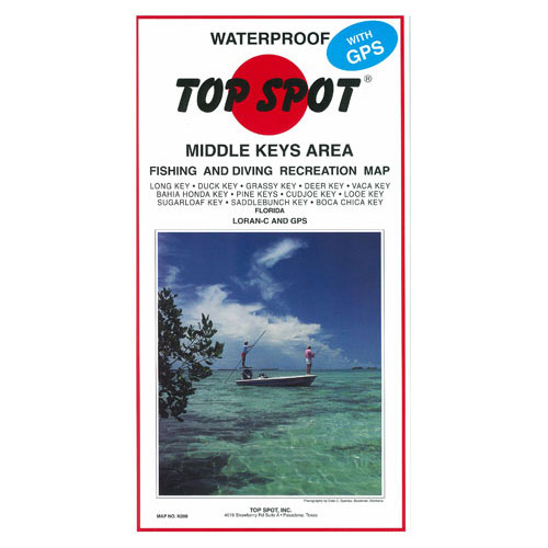 Top Spot Middle Keys Area Fishing & Diving Recreation Map (N208)