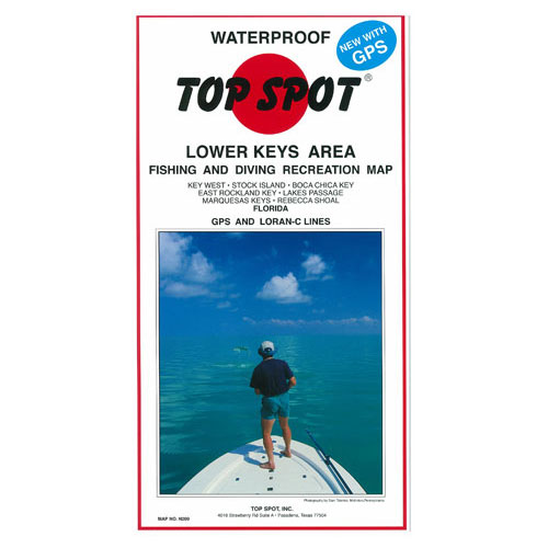 Top Spot Lower Keys Area Fishing & Diving Recreation Map (N209)