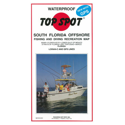 Top Spot South Florida Offshore Fishing & Diving Recreation Map