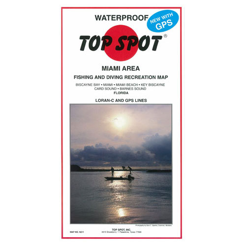 Top Spot Miami Area Fishing & Diving Recreation Map (N211)