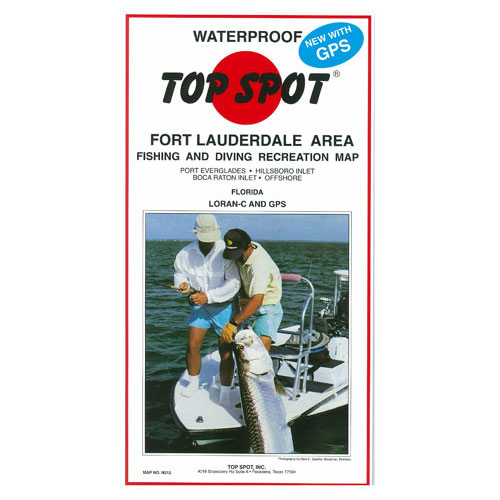 Top Spot Fort Lauderdale Area Fishing & Diving Recreation Map (N