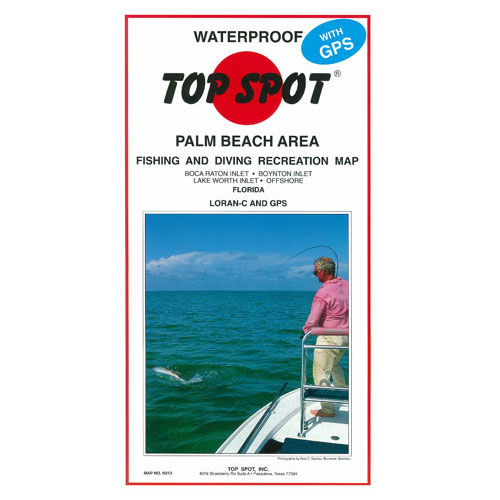 Top Spot Palm Beach Area Fishing & Diving Recreation Map (N213)