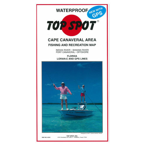 Top Spot Cape Canaveral Area Fishing & Recreation Map (N218)