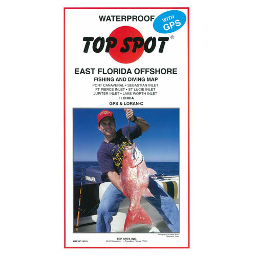 Top Spot East Florida Offshore Fishing & Diving Map (N220)