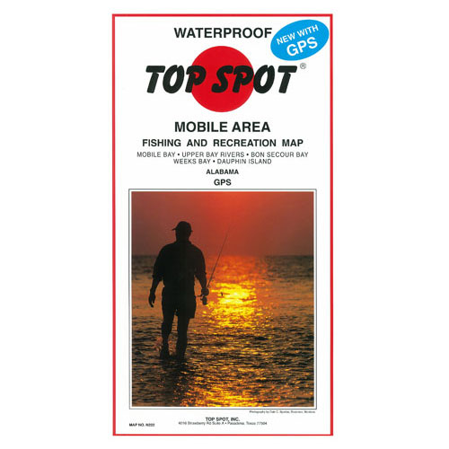 Top Spot Mobile Area Fishing & Recreation Map (N222)