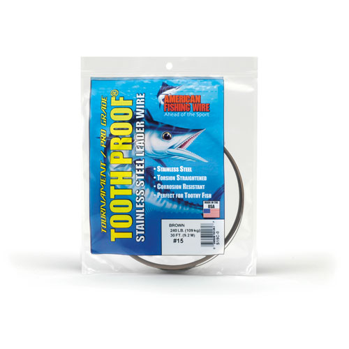 AFW Tooth Proof Stainless Steel Leader Wire - 1/4 lb Coil Camo
